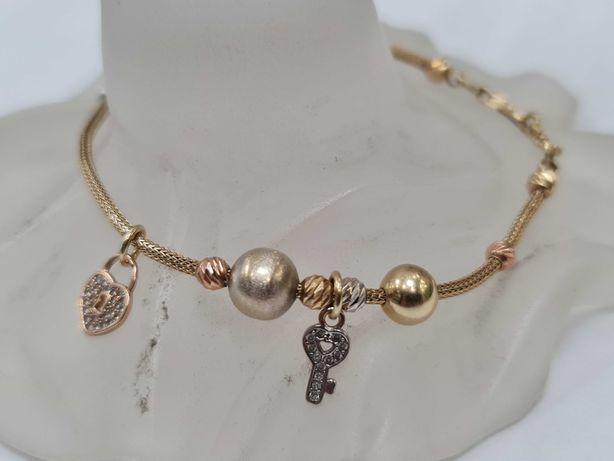 Wyjątkowa złota bransoletka damska/ 585/ 5.68 gram/ 18-20cm