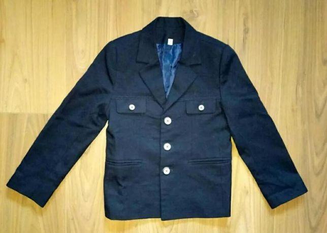 Школьный стильный пиджак рост 116 см для мальчика