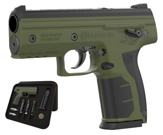 Pistolet na kule gumowe i pieprzowe BYRNA HD GREEN kal.68 CO2 8g
