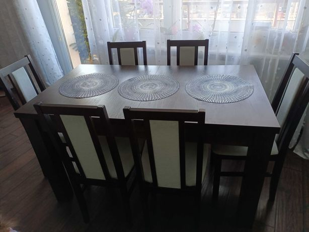 Stół wenge +6krzesel