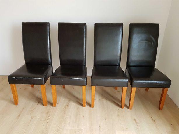Krzesła Jysk, ciemnobrązowe 4 sztuki