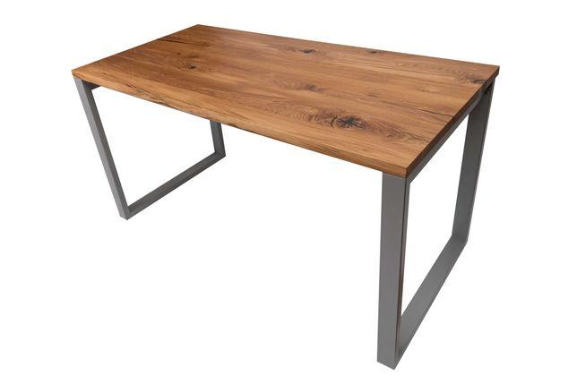 Biurko/stół dębowy z szerokich litych sęcznych lameli. Dowolny wymiar.