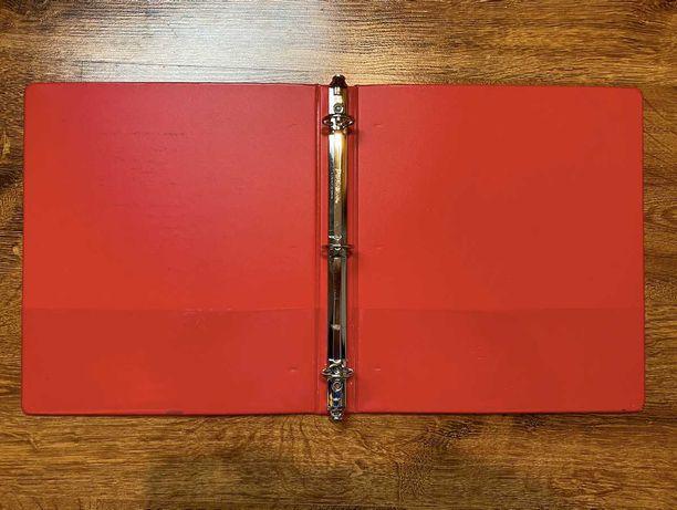 Nowy czerwony segregator wygodny format wysoka jakość