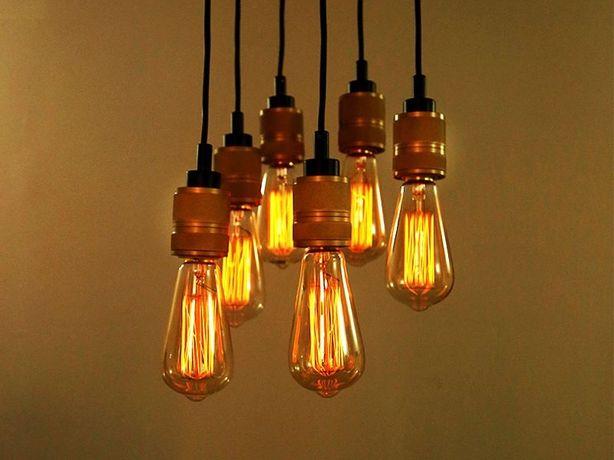 Лофт освещение ST64 классическая лампа Эдисона Ретро лампа СТ64