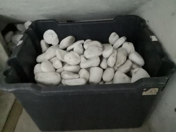 Pedra decorativa branca