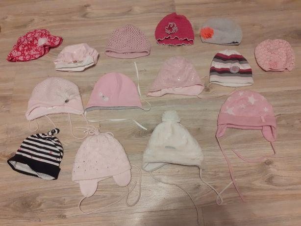 Czapki, czapeczki zimowe, przejściowe, kapelusik dla dziewczynki
