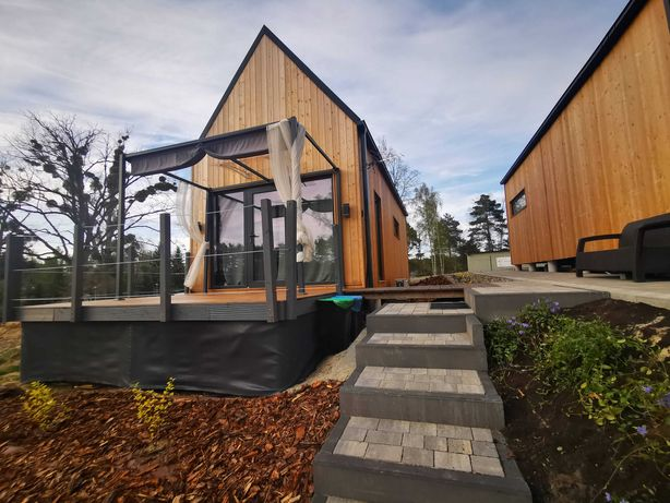 domki całoroczne + sauna bezpośrednio nad jeziorem - Kręgiel