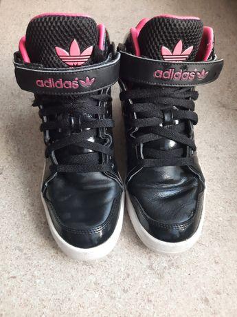Czarne damskie adidasy