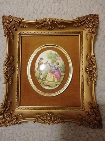 Porcelanowy obrazek Fragonard Love Sory
