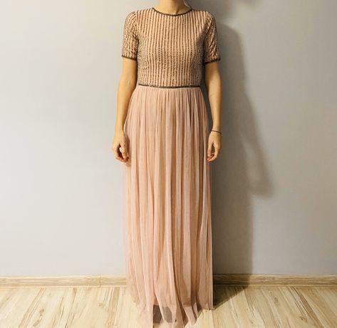 Sukienka tiulowa maxi M