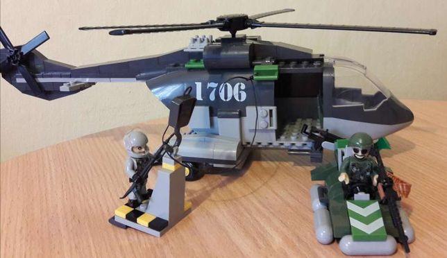 Klocki Small Army Helikopter wojskowy BLACK HAWK SHARK 250