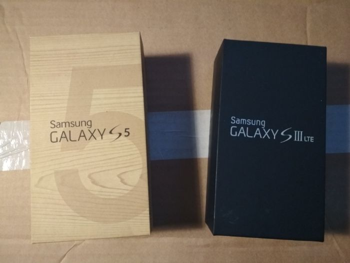 pudełka po Samsungu S 5 S 3 Warszawa - image 1