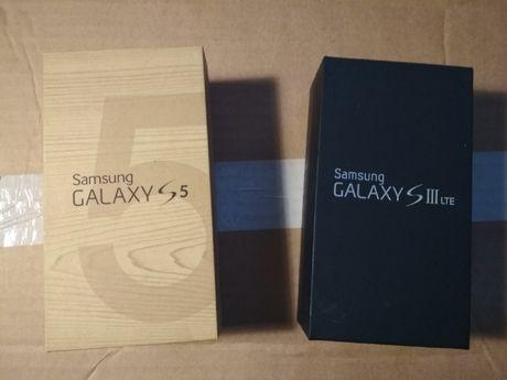 pudełka po Samsungu S 5 S 3