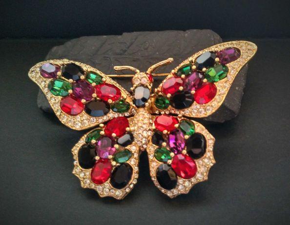 Rare Vintage Ciner butterfly brooch USA брошка бабочка