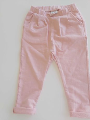 Spodnie dresowe różowe dresy dla dziewczynki ZARA 98