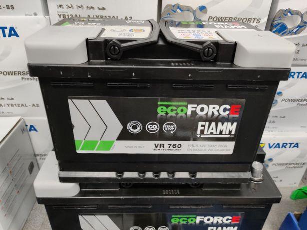 Akumulator Fiamm ECOFORCE AGM VR760 12V 70Ah 760A P+ Start-Stop Kraków