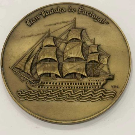Medalha Rainha de Portuga Famoso Escultor (bronze)