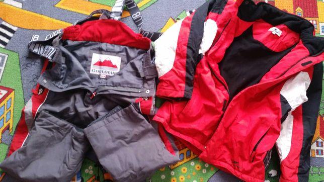 Spodnie i kurtka narciarskie 134 extra
