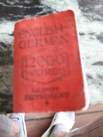 Słowniczek angielsko-niemiecki kieszonkowy