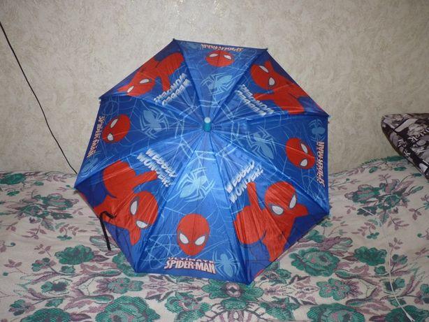 Зонт детский трость, полуавтомат Spider Man, для мальчика