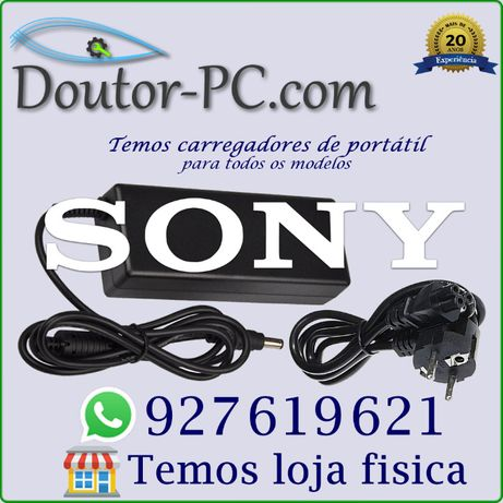 Carregador adaptador Portátil Sony Vaio Cabo bateria Transformador 65W