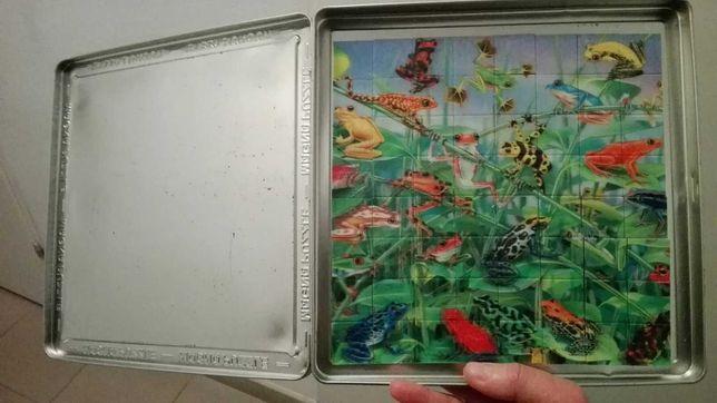 Puzzle 3d - żaby i rekiny