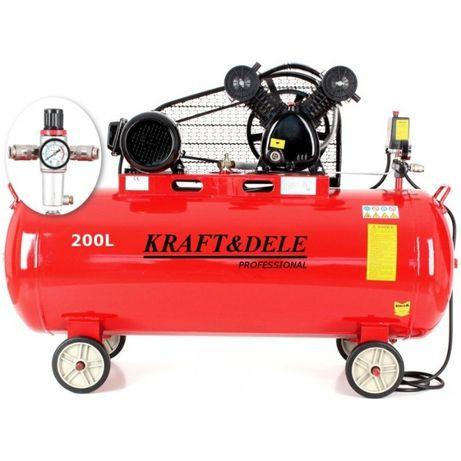 Kompresor sprężarka powietrza olejowa 200l 2tłoki 400V 5,2Km +separato