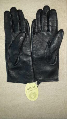Новые кожаные перчатки p. 6,5