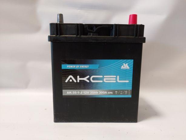 Akumulator AKCEL 12V 35Ah 300A Japan P+