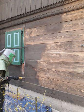 SODOWANIE PIASKOWANIE szkiełkowanie czyszczenie cegły drewna