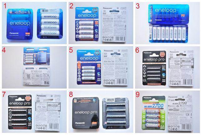 Аккумулятор Panasonic SANYO eneloop AA/AAA 750/930/1900/2500/2700 мАч