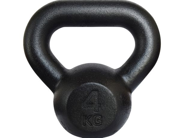 Kettlebell żeliwny RAW 4 kg