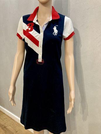 Granatowa sukienka polo ralph lauren 40