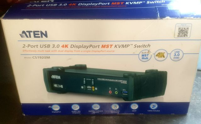 ATEN CS1922M 2P USB3.0 4K DP Switch