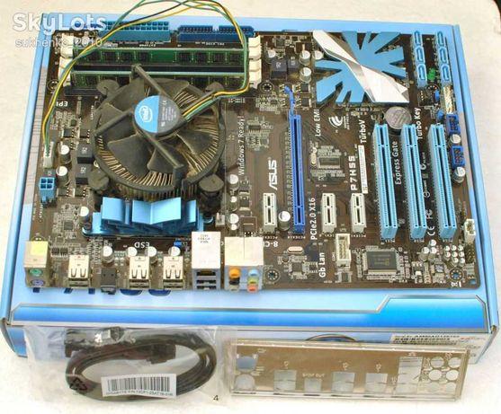 Материнская плата P7H55 с процессором Core I5-650, s1156.
