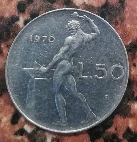 Włochy L.50 Lirów 1970 Repvbblica Italiana