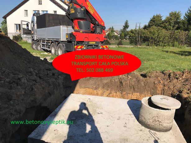 Szamba szambo betonowe 2-14m3 zbiorniki na wodę deszczową kanały