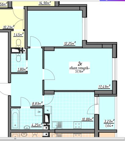 h Без комиссии! Просторная 2-х квартира с ремонтом Рассрочка на 4 года