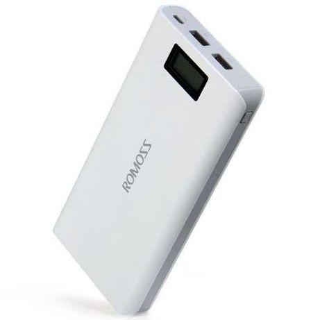 Power Bank Romoss LCD 50000mAh Sense 6 PLUS 2USB, повербанк с экраном