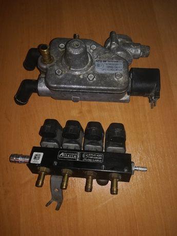 Редуктор 4 поколения Autogasitalia елект-ый. и форсунки 4 шт. по 3 ом.