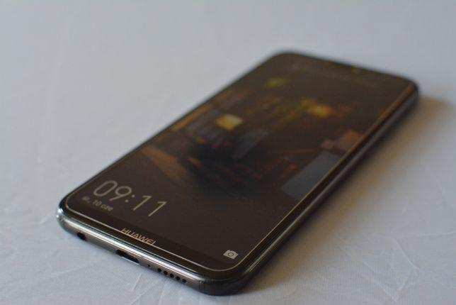 Huawei P20 Lite Czarny 64GB, 4GB, Etui, Szkło, Komplet, Stan BDB