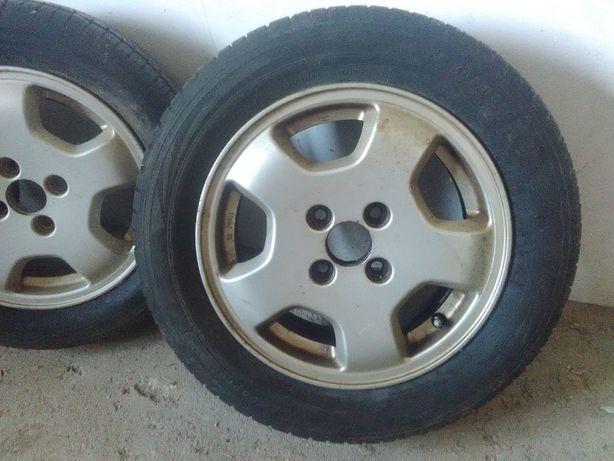 4 JANTES R14 com pneus como NOVOS