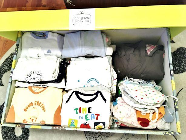 Набор одежды, распашонки, ползунки, человечки, бодики, шапки дешево