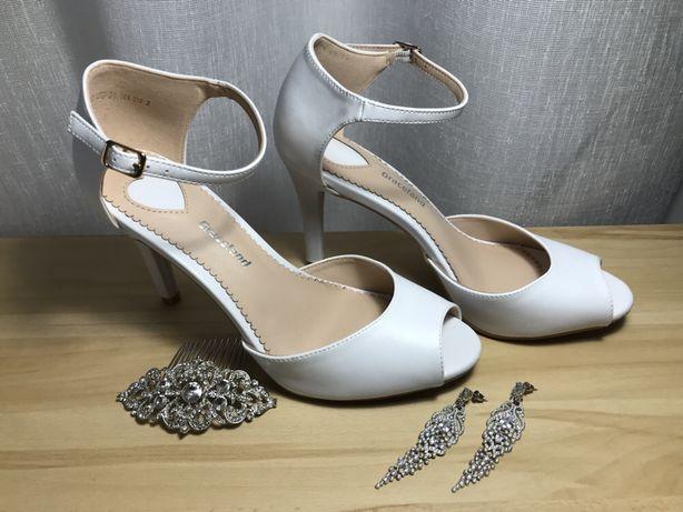 Buty ślubne białe roz. 39