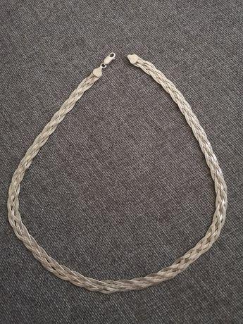 Naszyjnik pleciony - srebro 925 (Made in Italy)