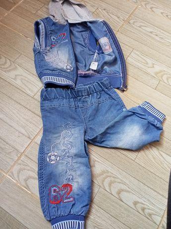 Стильный,модный джинсовый костюм для мальчика на 1 год