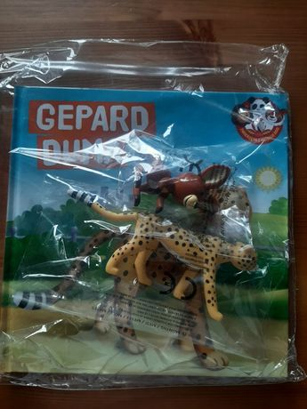 Zwierzęta z mojego zoo nr 8/2021 Gepard Duma+kangur książka i figurki