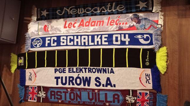 Szaliki Newcastle Schalke 04 Aston Villa Borussia D. Turów Adam Małysz
