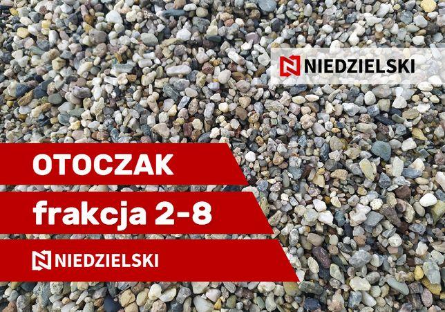 Otoczak- kamień płukany - otoczak frakcja 2-8