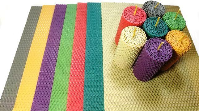 Цветная вощина набор для творчества 26х20см Кольорова вощина 100% вос